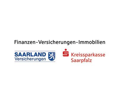 Finanzen – Versicherungen – Immobilien. Logos Saarland Versicherungen Kreissparkasse Saarpfalz ist Aussteller am Vorsorgetag Saarland 2019